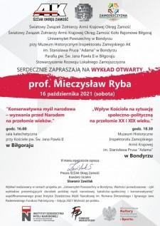 Spotkanie zprof. Mieczysławem Rybą