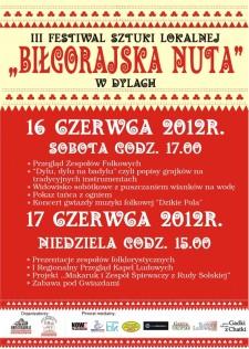 """III Festiwal Sztuki Lokalnej """"Biłgorajska Nuta"""""""