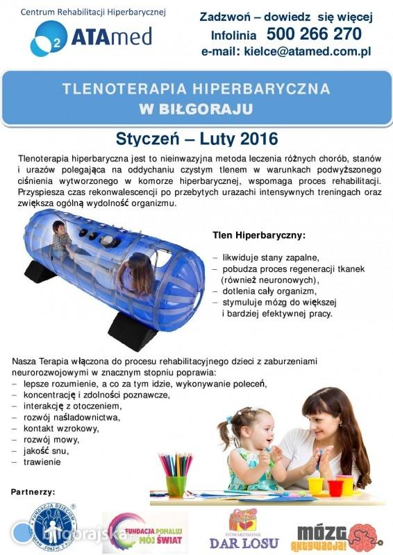 Terapia tlenem hiperbarycznym po raz pierwszy wBiłgoraju!- TERMIN!