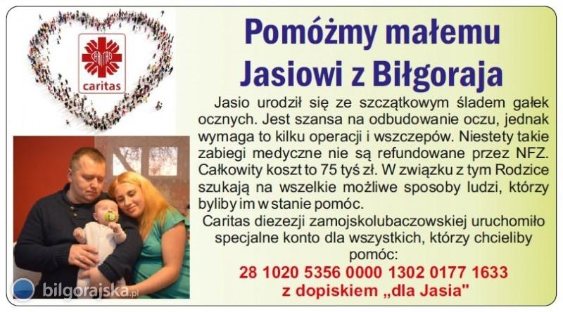 Pomóżmy małemu Jasiowi zBiłgoraja!