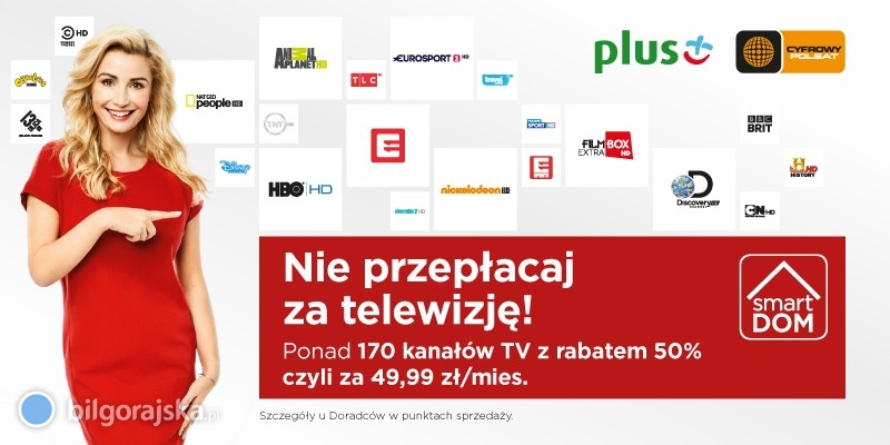 Jesteś abonentem Plusa? Możesz mieć telewizję Cyfrowego Polsatu wsuper cenie!