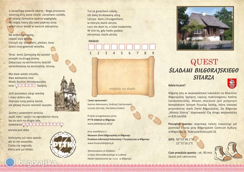 Quest - śladami biłgorajskiego sitarza