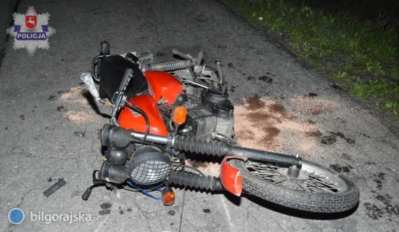 17-letni motocyklista poważnie ranny