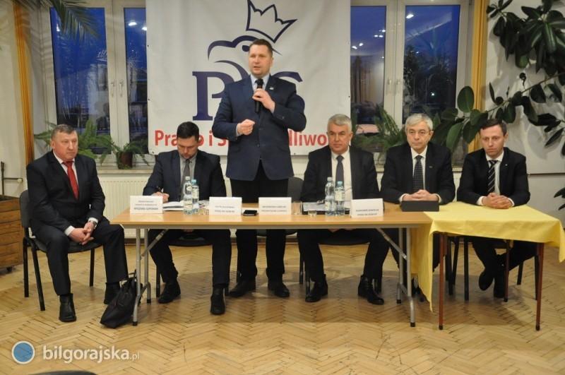 Spotkanie zparlamentarzystami PiS iwojewodą lubelskim