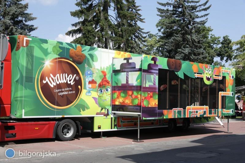 Słodka, interaktywna ciężarówka odwiedzi Łukową