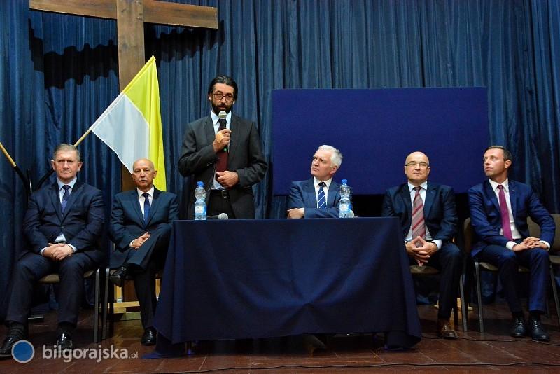 Minister Gowin poparł Wojciecha Glenia na burmistrza Biłgoraja