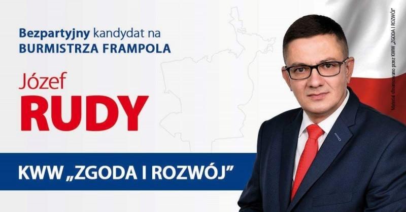 Józef Rudy powalczy ofotel burmistrza Frampola