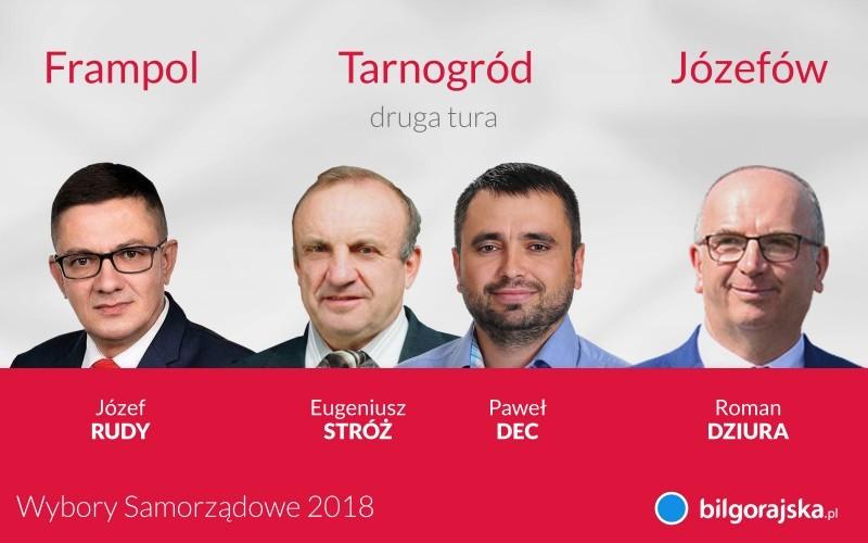 Frampol, Tarnogród, Józefów - wyniki wyborów