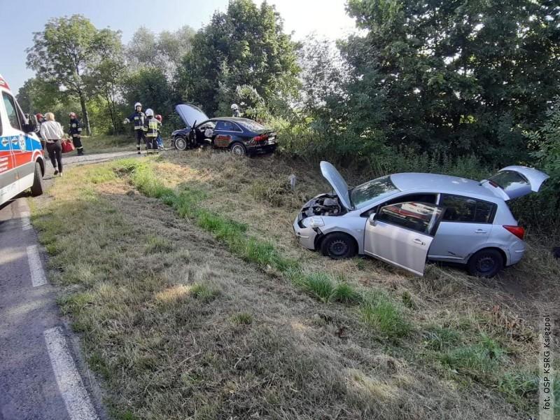Zderzenie na trasie Płusy - Księżpol