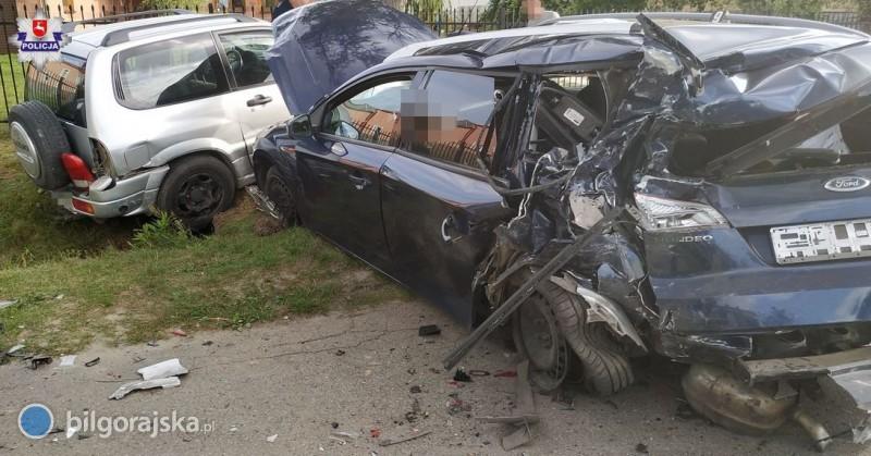 Zderzenie aut na trasie Sól - Majdan Stary. 7 osób trafiło do szpitala