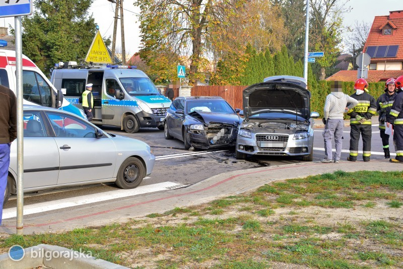 Zderzenie trzech aut