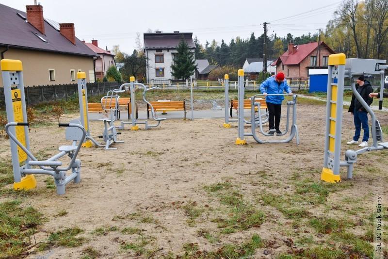 W gminie Potok Górny powstały plenerowe siłownie