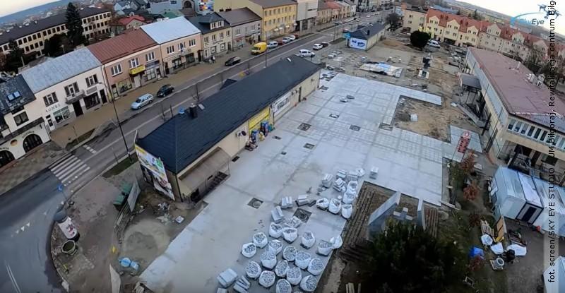 Rewitalizacja Placu Wolności okiem drona