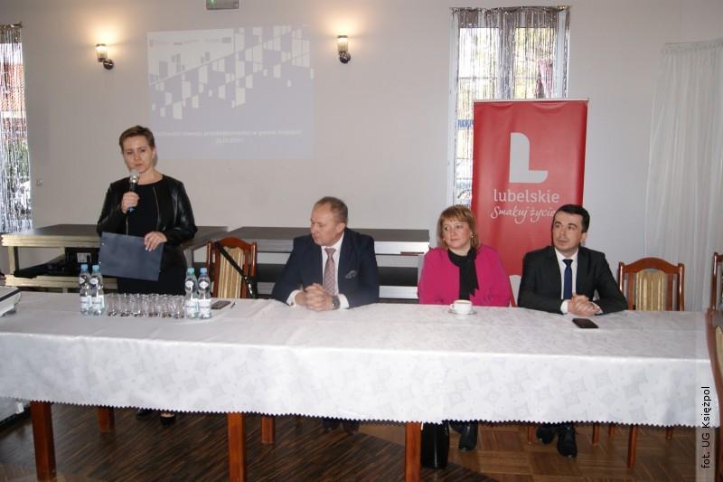 Rozmawiali omożliwościach rozwoju przedsiębiorczości wgminie Księżpol