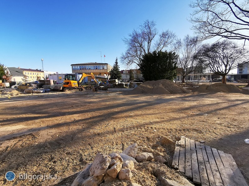 Rewitalizacja centrum Biłgoraja - prace postępują