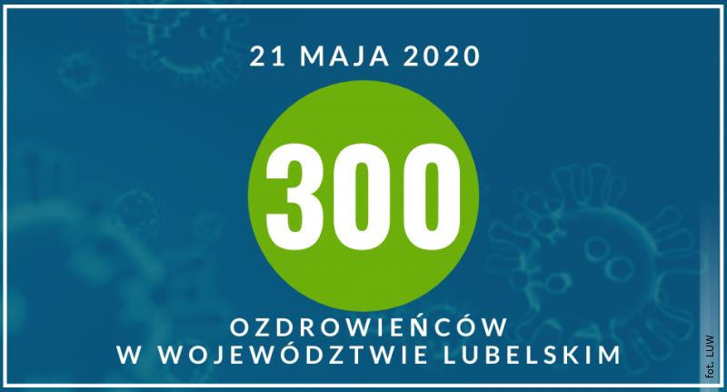 300 ozdrowieńców