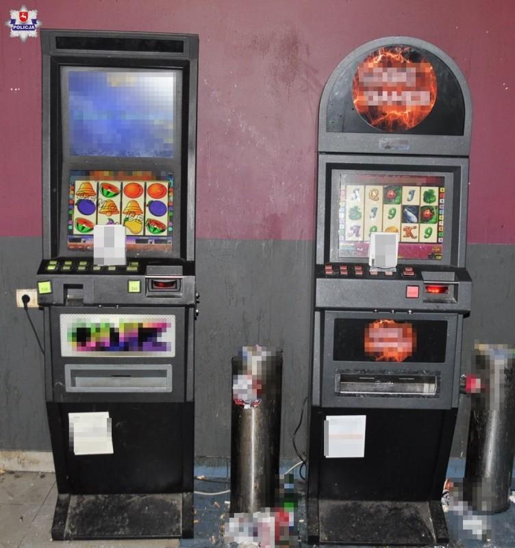 Policjanci zabezpieczyli nielegalne automaty