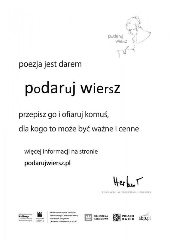 """""""Podaruj wiersz"""" wAleksandrowie"""