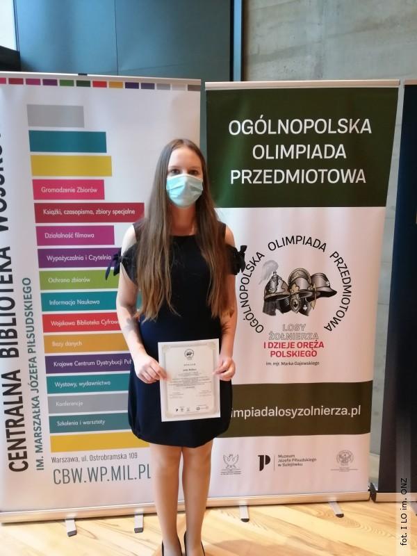 Uczennica ILO im. ONZ laureatką olimpiady