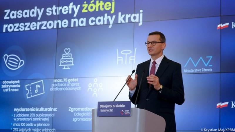 Od soboty cała Polska zostanie objęta żółtą strefą