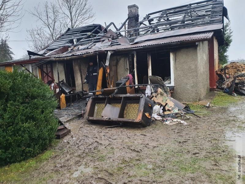 Zrzutka na odbudowę domu po pożarze