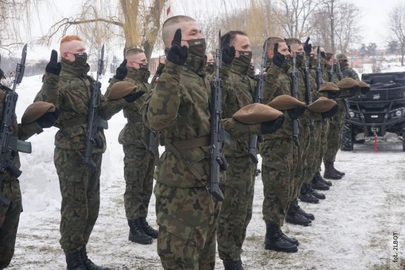 Przysięga Terytorialsów wrocznicę powstania Armii Krajowej