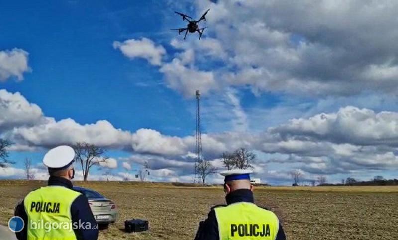 Działania zwykorzystaniem drona. W3 godziny ujawniono 12 wykroczeń