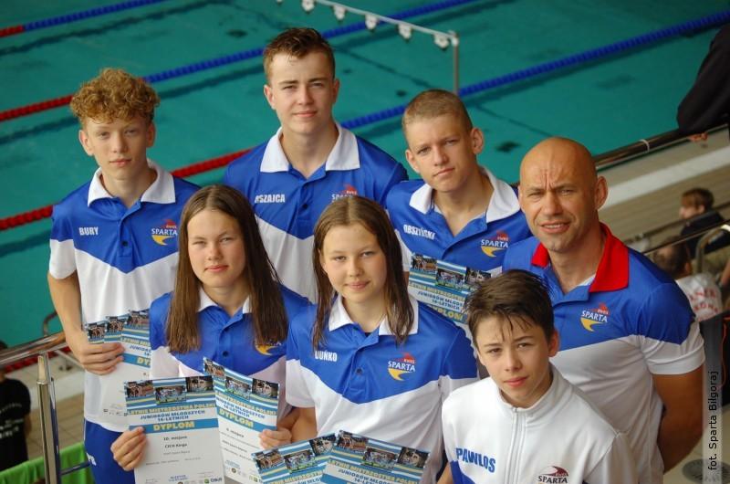 Pływackie Mistrzostwa Polski Juniorów zudziałem Sparty
