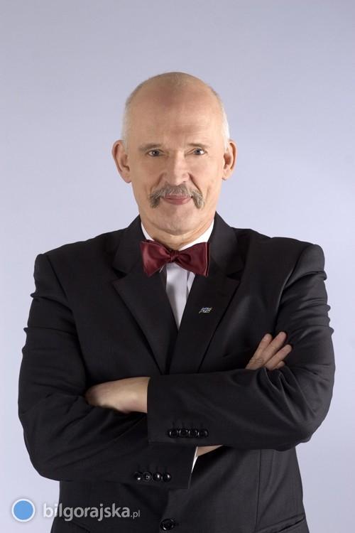 Janusz Korwin-Mikke odwiedzi Biłgoraj
