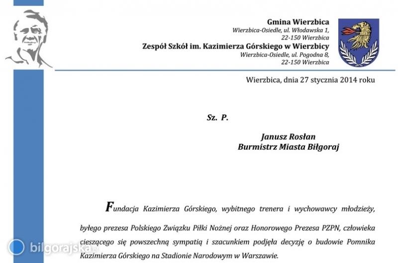 Zbiórka na pomnik Kazimierza Górskiego